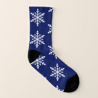 Eleganter Feiertags-blaues und weißes Socken