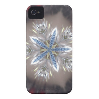 Eleganter festlicher Weihnachtsstern-glänzendes iPhone 4 Cover