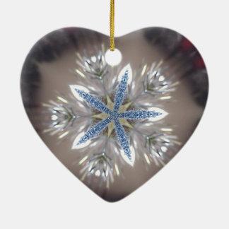 Eleganter festlicher Weihnachtsstern-glänzendes Keramik Ornament