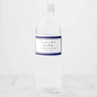 Eleganter Flaschen-Aufkleber des Wasserflaschenetikett