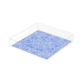 Eleganter Fluss des Baby-Blaus Acryl Tablett