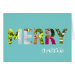 Eleganter Foto-WeihnachtskartePeekaboo in aquamari Grußkarte
