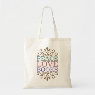 Eleganter Frieden, Liebe, Bücher Budget Stoffbeutel