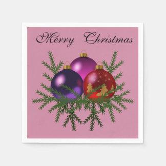 """Eleganter """"frohe Weihnacht-"""" Flitter Serviette"""