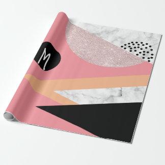 Eleganter geometrischer geschenkpapier