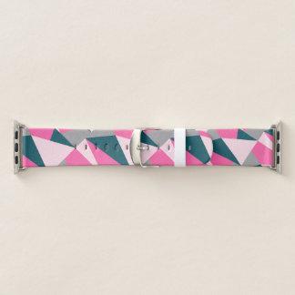 Eleganter geometrischer Pinksmaragdgrünpastell Apple Watch Armband