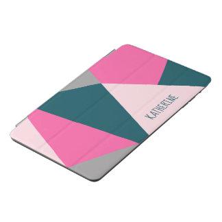 Eleganter geometrischer Pinksmaragdgrünpastell iPad Mini Hülle