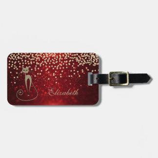 Eleganter Glittery Bokeh Folie Confetty-Diamant, Gepäckanhänger