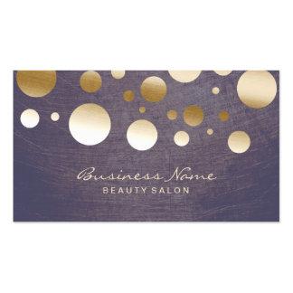 Eleganter GoldConfetti punktiert Schönheits-Salon Visitenkarten Vorlagen