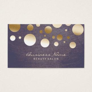 Eleganter GoldConfetti punktiert Schönheits-Salon Visitenkarten