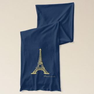 Eleganter goldener Eiffelturm | Paris Schal