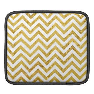 Eleganter Goldfolien-Zickzack Stripes Zickzack Sleeve Für iPads