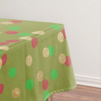 eleganter GoldGlitter roter grüner Tischdecke