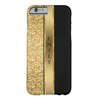 Eleganter GoldGlitter und -streifen Barely There iPhone 6 Hülle