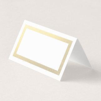 Eleganter Goldgrenzleere Tabellen-Gast Platzkarte