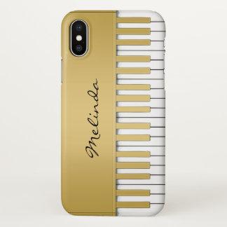 Eleganter Goldklavier-Tastatur-Musik iPhone X Fall iPhone X Hülle