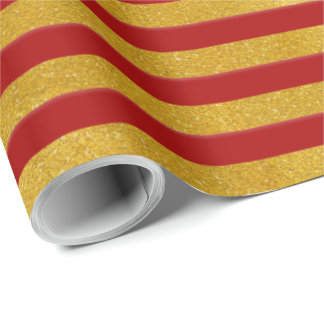 Eleganter Goldstreifen - Gewohnheit Ihre Farbe Geschenkpapier