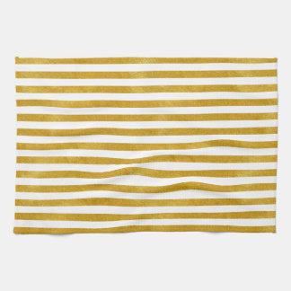 Eleganter Goldstreifen - Gewohnheit Ihre Farbe Geschirrtuch