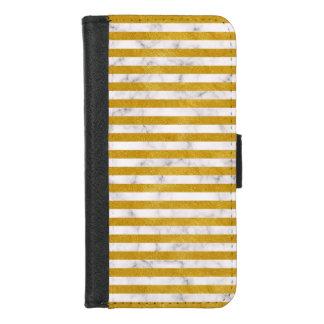 Eleganter Goldstreifen - Gewohnheit Ihre Farbe iPhone 8/7 Geldbeutel-Hülle