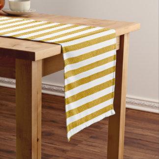 Eleganter Goldstreifen - Gewohnheit Ihre Farbe Kurzer Tischläufer