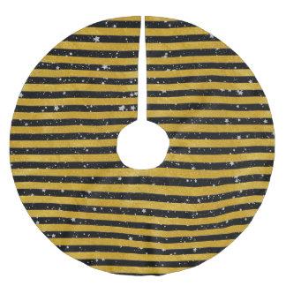 Eleganter Goldstreifen - Gewohnheit Ihre Farbe Polyester Weihnachtsbaumdecke