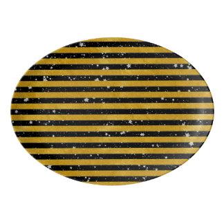 Eleganter Goldstreifen - Gewohnheit Ihre Farbe Porzellan Servierplatte