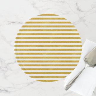 Eleganter Goldstreifen - Gewohnheit Ihre Farbe Tortenplatte