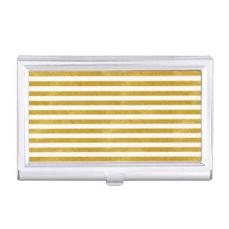 Eleganter Goldstreifen - Gewohnheit Ihre Farbe Visitenkarten Etui
