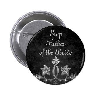 Eleganter gotischer dunkler Romanze Hochzeit Runder Button 5,1 Cm