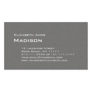 Eleganter grauer strukturierter visitenkartenvorlage