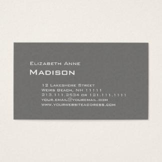 Eleganter grauer strukturierter visitenkarte