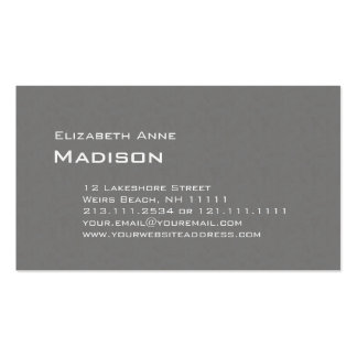 Eleganter grauer strukturierter visitenkarten