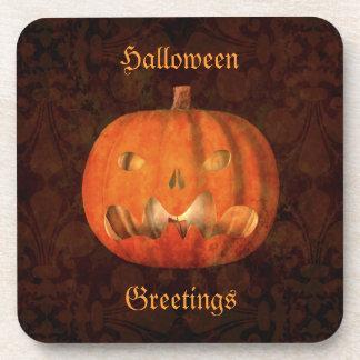 Eleganter Halloween-Kürbisdekor Getränkeuntersetzer