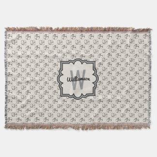 Eleganter Hartriegel, der Muster personalisiertes Decke
