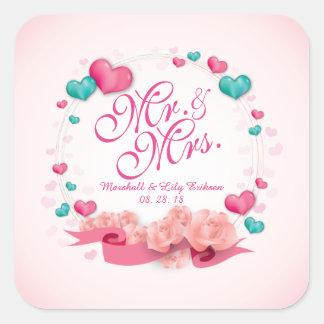 Eleganter Herr u. Frau Candy Hearts Sticker Seal