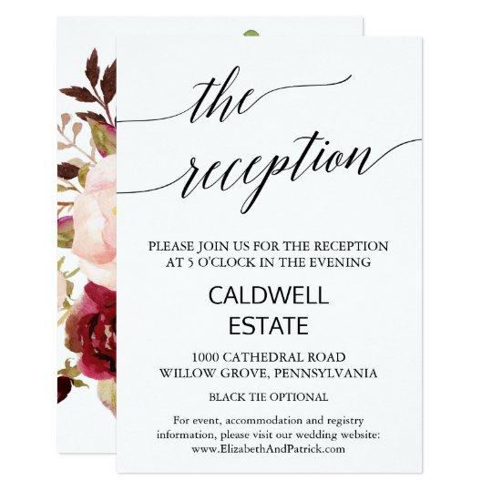 Eleganter hinterer Empfangs-mit Blumeneinsatz der 8,9 X 12,7 Cm Einladungskarte