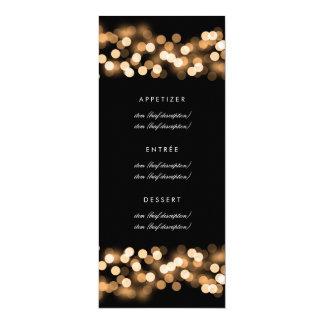 Eleganter Hochzeits-Menü-Goldhollywood-Zauber 10,2 X 23,5 Cm Einladungskarte