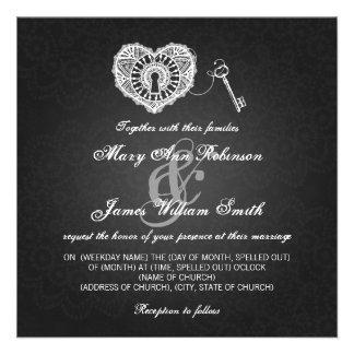 Eleganter Hochzeits-Schlüssel zu meinem Ankündigungskarten