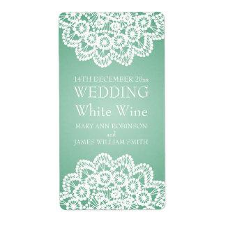 Eleganter Hochzeits-Wein-Aufkleber-Vintages