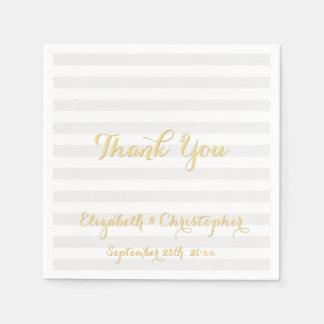 Eleganter Hochzeitstag danken Ihnen Papierserviette