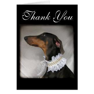 Eleganter Hund sagt danken Ihnen Karte