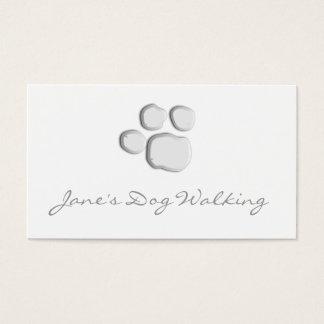 Eleganter Hundegehende Tatzen-Druck-Visitenkarte Visitenkarten