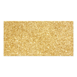 Eleganter Imitat-GoldGlitter Individuelle Foto Karten