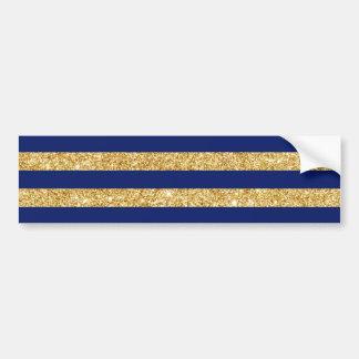 Eleganter Imitat-GoldGlitter und blauer Autoaufkleber