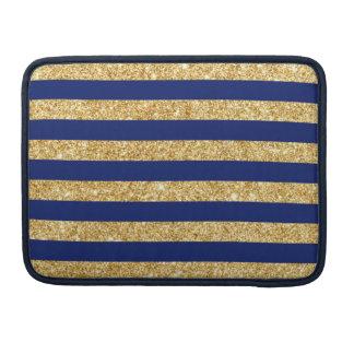 Eleganter Imitat-GoldGlitter und blauer Sleeve Für MacBooks