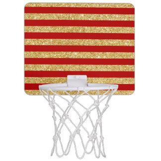 Eleganter Imitat-GoldGlitter und rotes Mini Basketball Ring