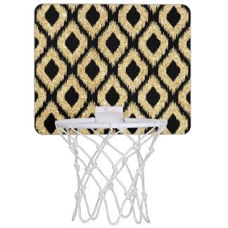 Eleganter Imitat-Goldschwarz-Glitzer-Stammes- Mini Basketball Netz