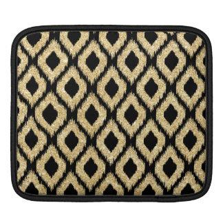 Eleganter Imitat-Goldschwarz-Glitzer-Stammes- Sleeve Für iPads