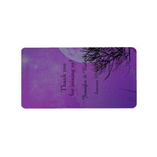 Eleganter lila gotischer adressaufkleber