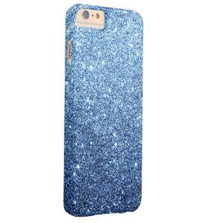 Eleganter Marine-Blau-Glitter-Luxus Barely There iPhone 6 Plus Hülle